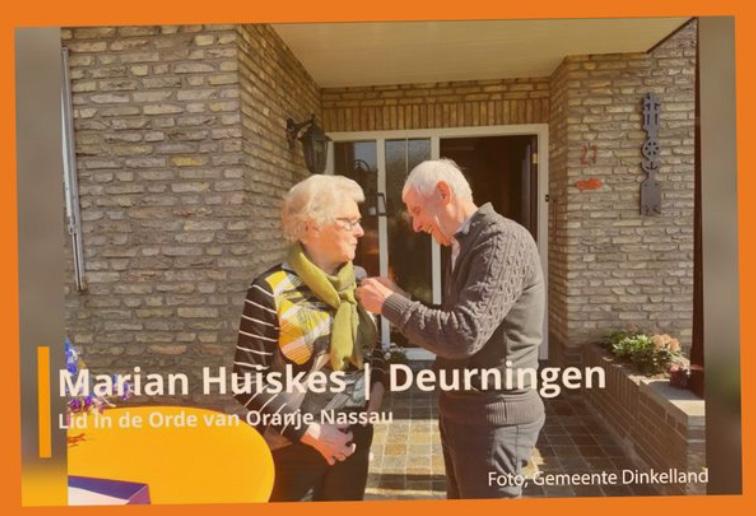 Lees meer over het artikel Koninklijke onderscheiding Marian Huiskes